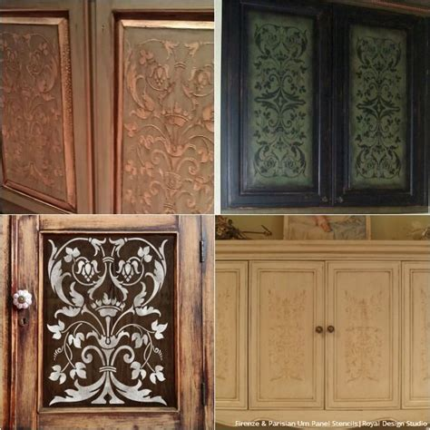 diy cabinet door makeovers  furniture stencils