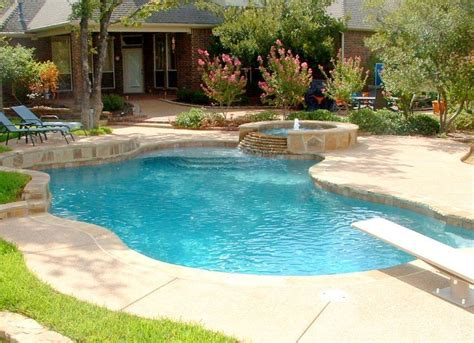 Pool Design Ideas by Simple Pool With Spa And Steps Sundeck Nature