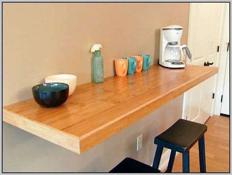 diy cuisine 17 best ideas about wall mounted table on wall