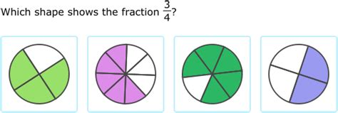 Match Fractions To Models