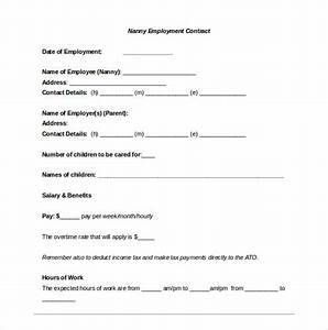 32 word confidentiality agreement templates free download With nanny contract template word