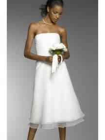 brautkleid kurz schlicht simple column wedding dress tea length in white chiffon strapless mybridaldress prlog