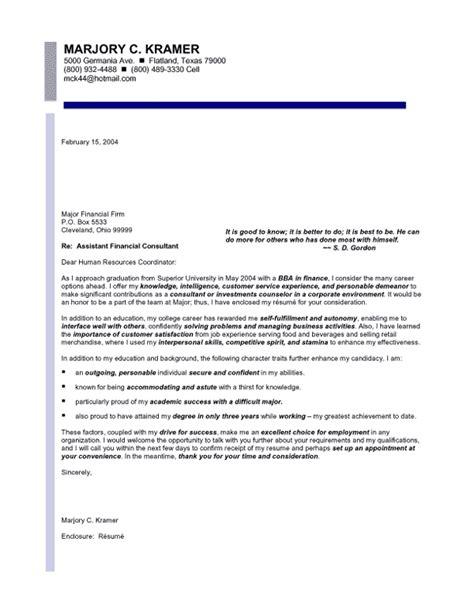 finance entry level cover letter sles templates