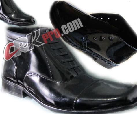 sepatu boot pdh wanita putih sepatu pdh kulit kiwi polisi polri standar tni sepatu