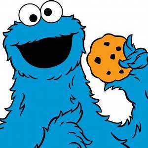Sesame Street Cookie Monster Clipart - ClipartXtras