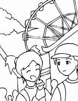 Coloring Park Amusement Pages Theme Printable Library Clipart Getcolorings Handipoints Colorear Diversiones Parque Ninos Para El Clip sketch template