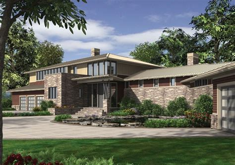 contemporary prairie style house plans house plan the aurea prairie style contemporary home plan