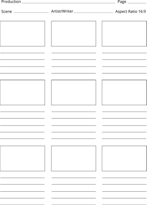 Free Storyboard Templates Editable