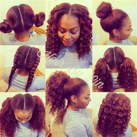 Versatile Sew In Hairstyles 2 part vertical versatile sew in nyc hair hair