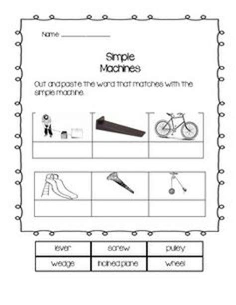 1000 about simple machine ideas simple machines worksheets and