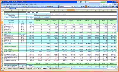 business plan spreadsheet template excel excel