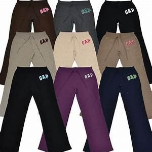 Gap Sweatpants Logo Applique Fleece Sweat Pants Womens ...