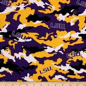LSU Cotton Camouflage - Discount Designer Fabric - Fabric com