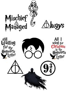 harry potter quotes deathly hallows wall sticker decal lot