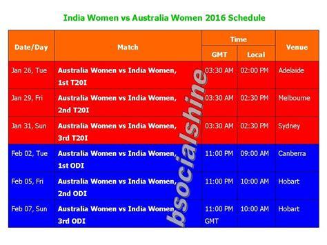 India Women Vs Australia Women 2016 Schedule & Time Table Create Flowchart C# Code Steps Program C++ Switch To Generator Online Assembly Converter Open Source Computer Science Fsu Flow Chart Creation Process