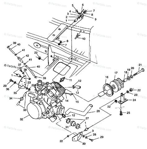 Polaris Atv Oem Parts Diagram For Engine Mounting