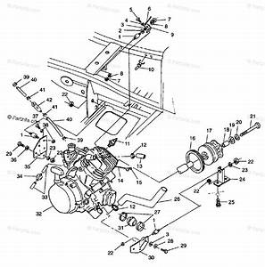 Polaris Atv 1998 Oem Parts Diagram For Engine Mounting Scrambler 400