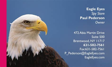 Bald Eagle Business Cards By 123print
