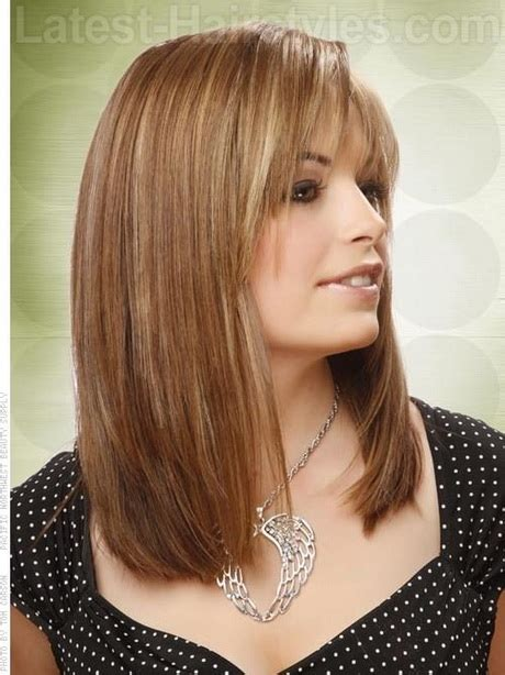 medium length bobs with bangs