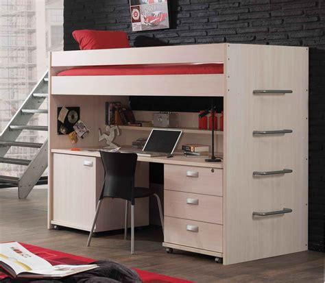 lit bureau adulte lit mezzanine une pièce supplémentaire cosy et intimiste