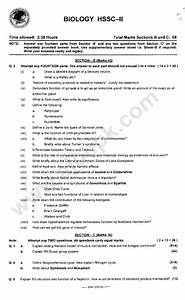 Biology Hssc  Past Papers  U2013 2nd Year Federal