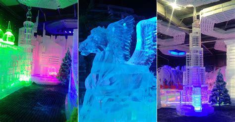 dubais  ice park   opened  dubai garden glow