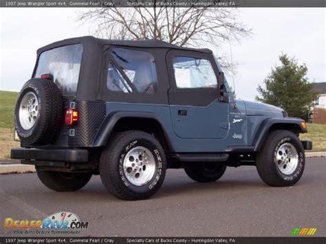 gunmetal blue jeep 1997 jeep wrangler sport 4x4 gunmetal pearl gray photo