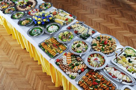 table cuisine inspiring lunch buffet table with european cuisine