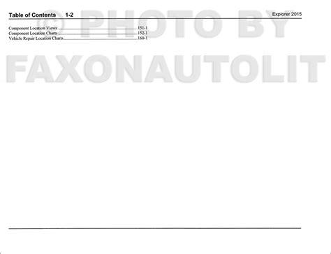 2015 Ford Explorer Wiring Diagram by 2015 Ford Explorer Wiring Diagram Manual Original
