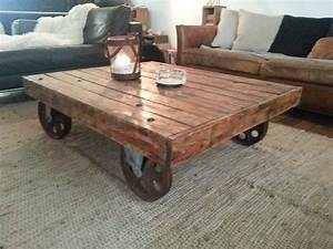 Roue Table Basse : table basse sur roue creation palette ~ Teatrodelosmanantiales.com Idées de Décoration