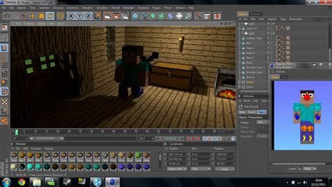 Cinema 4d Minecraft Texture/material Pack