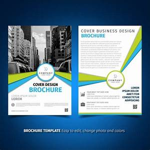 brochure template design vector free download With software product brochure template