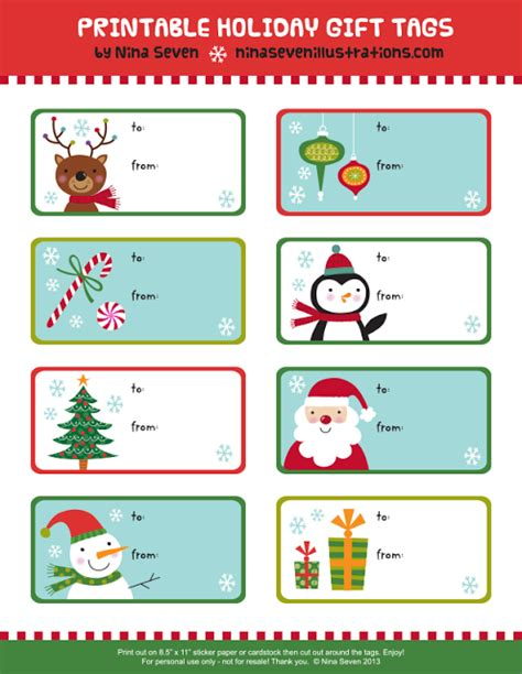 be different act normal free printable gift tags christmas
