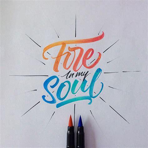 inspiring brushpen crayola hand lettering examples