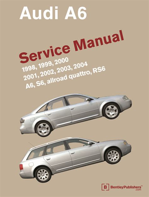free car repair manuals 2002 audi s4 electronic valve timing front cover audi audi repair manual a6 s6 1998 2004 bentley publishers repair manuals