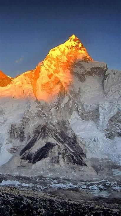Everest 4k Mount Sunset Wallpapers Iphone Digital