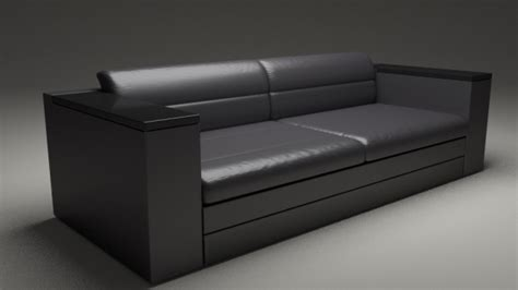 realistic modern sofa model ds obj dae
