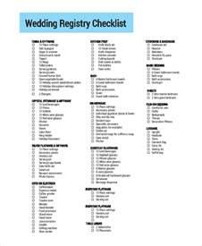 Printable Wedding List Checklist