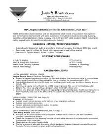 Health Information Management Clerk Resume by Records Clerk Resume Sle Template Design