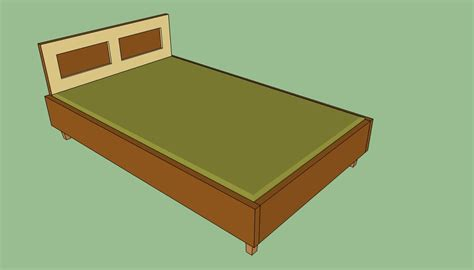 wooden queen bed frame plans howtospecialist   build step  step diy plans