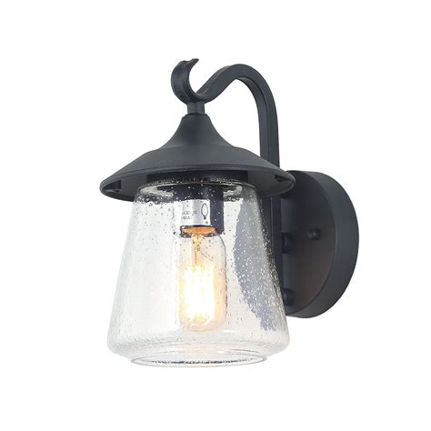 lnc 1 light traditional black outdoor wall sconce