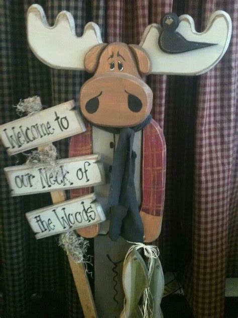 wood moose crafts christmas pinterest woods  moose