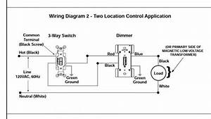 Multi Location Dimmer 3 Way Wiring Diagram