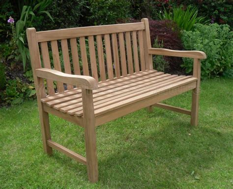 Teak Bench Sale by Solid Teak 2 Seat Chunky Park Garden Bench Sale Now On