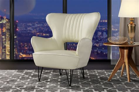 modern leather accent armchair  shelter style living