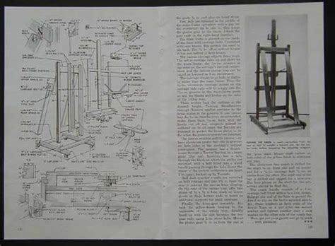 easel french style   build plans adjustable