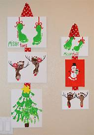 hand and footprint christmas crafts - Footprint Christmas Crafts