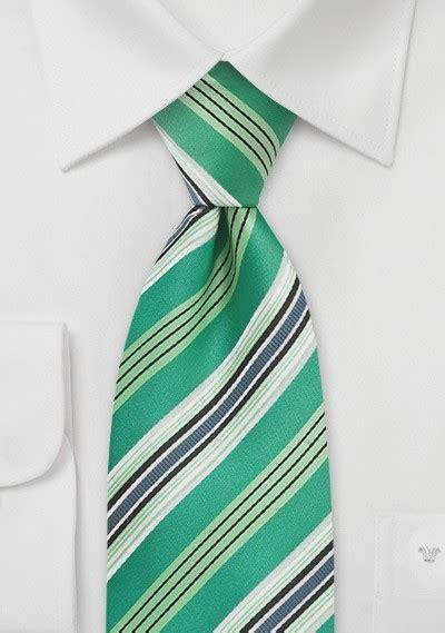 Striped Necktie in Kelly Green | Cheap-Neckties.com