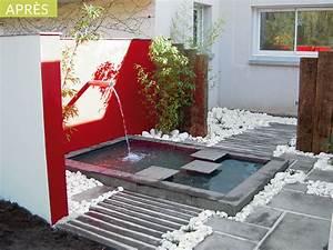 Jardin Avec Bassin : amenagement jardin zen avec bassin d tente jardin ~ Melissatoandfro.com Idées de Décoration