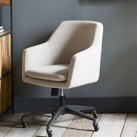 upholstered desk chair with arms helvetica upholstered office chair west elm au